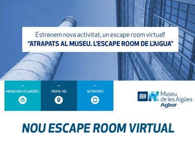 Atrapats al Museu. L'Escape Room de l'Aigua